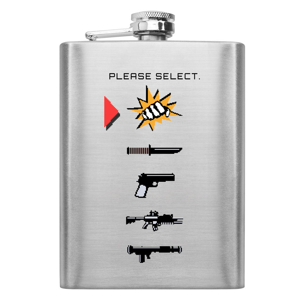 Select a Weapon 8 oz. Flask