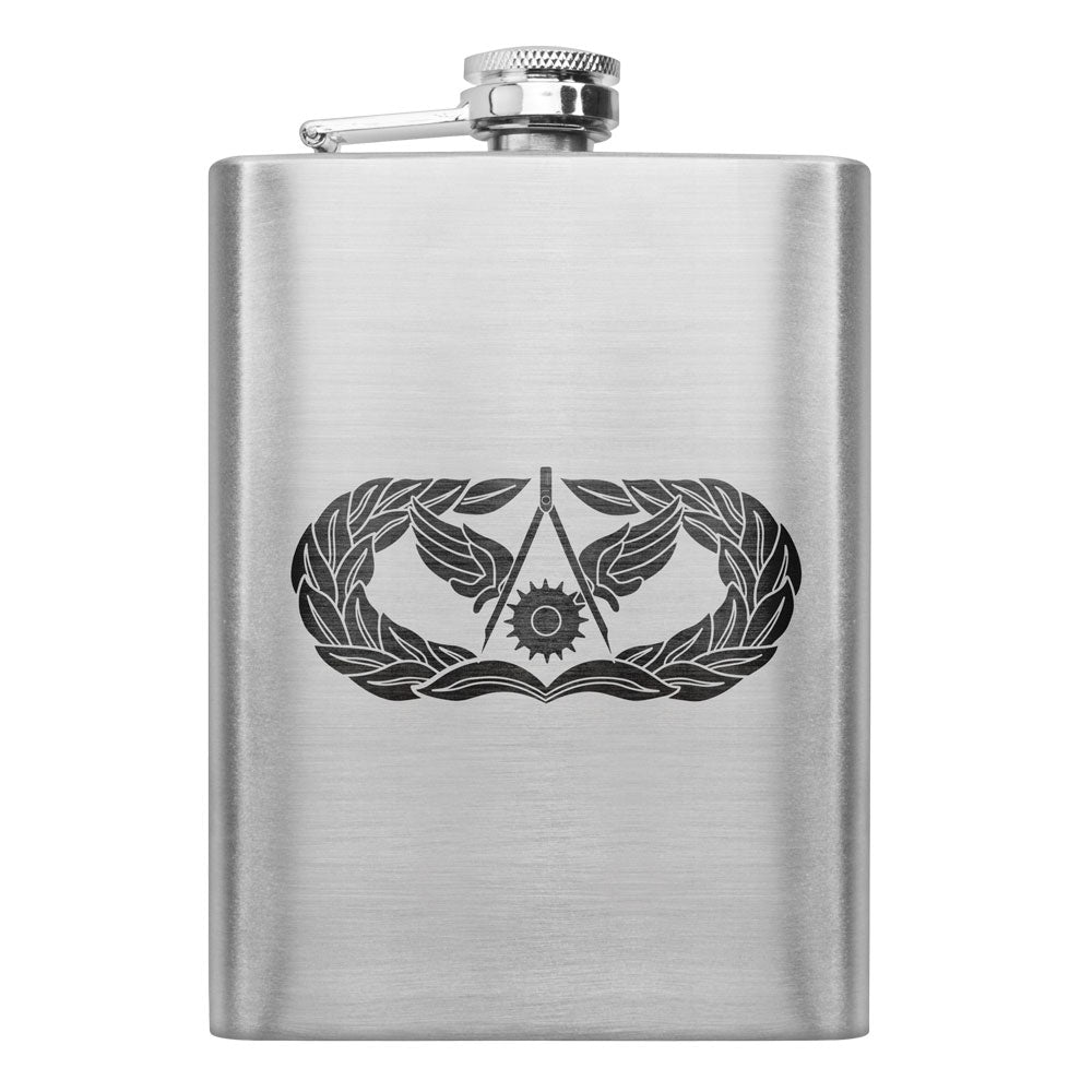 Air Force Badge 8 oz. Flasks