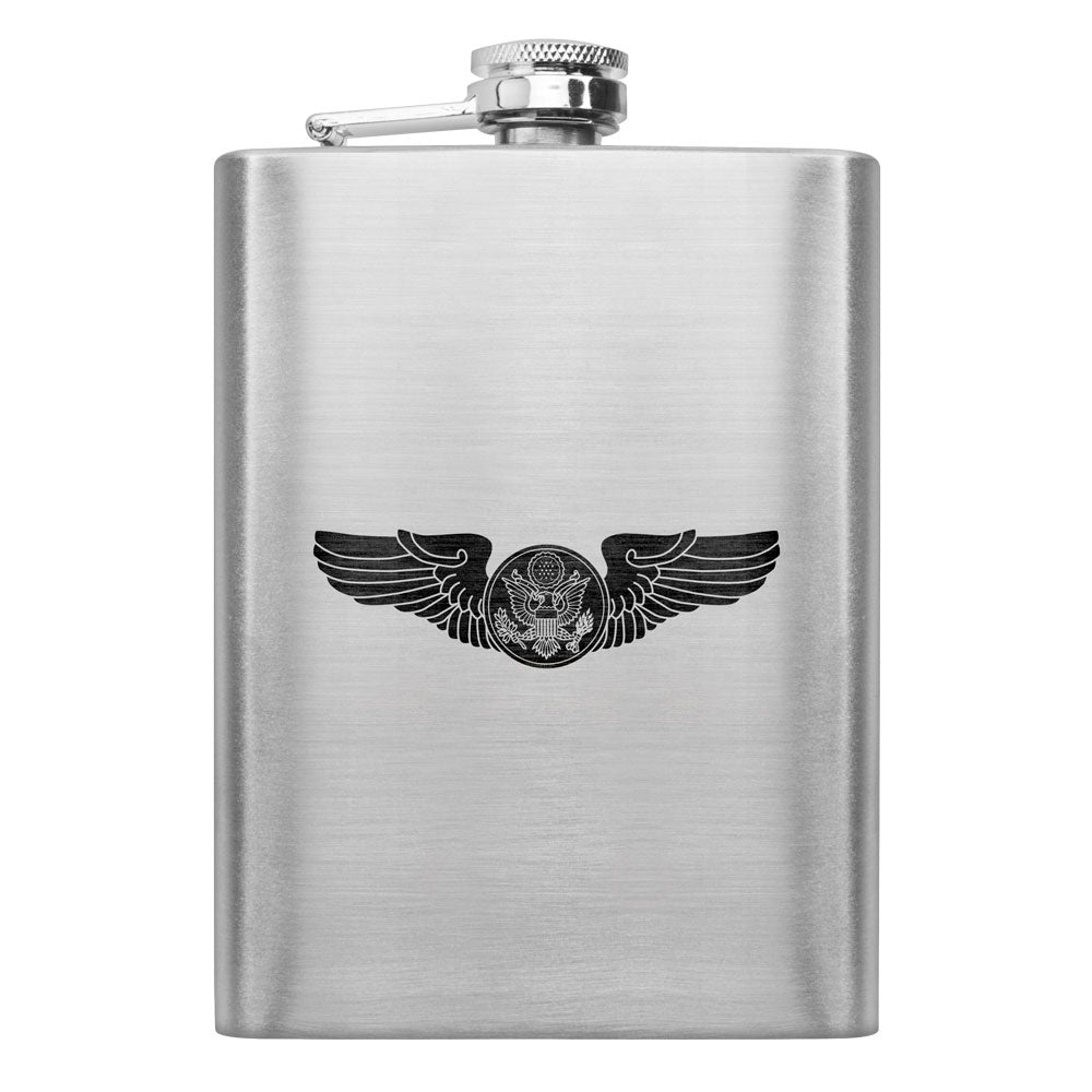 Army WWII Aircrew Badge 8 oz. Flask