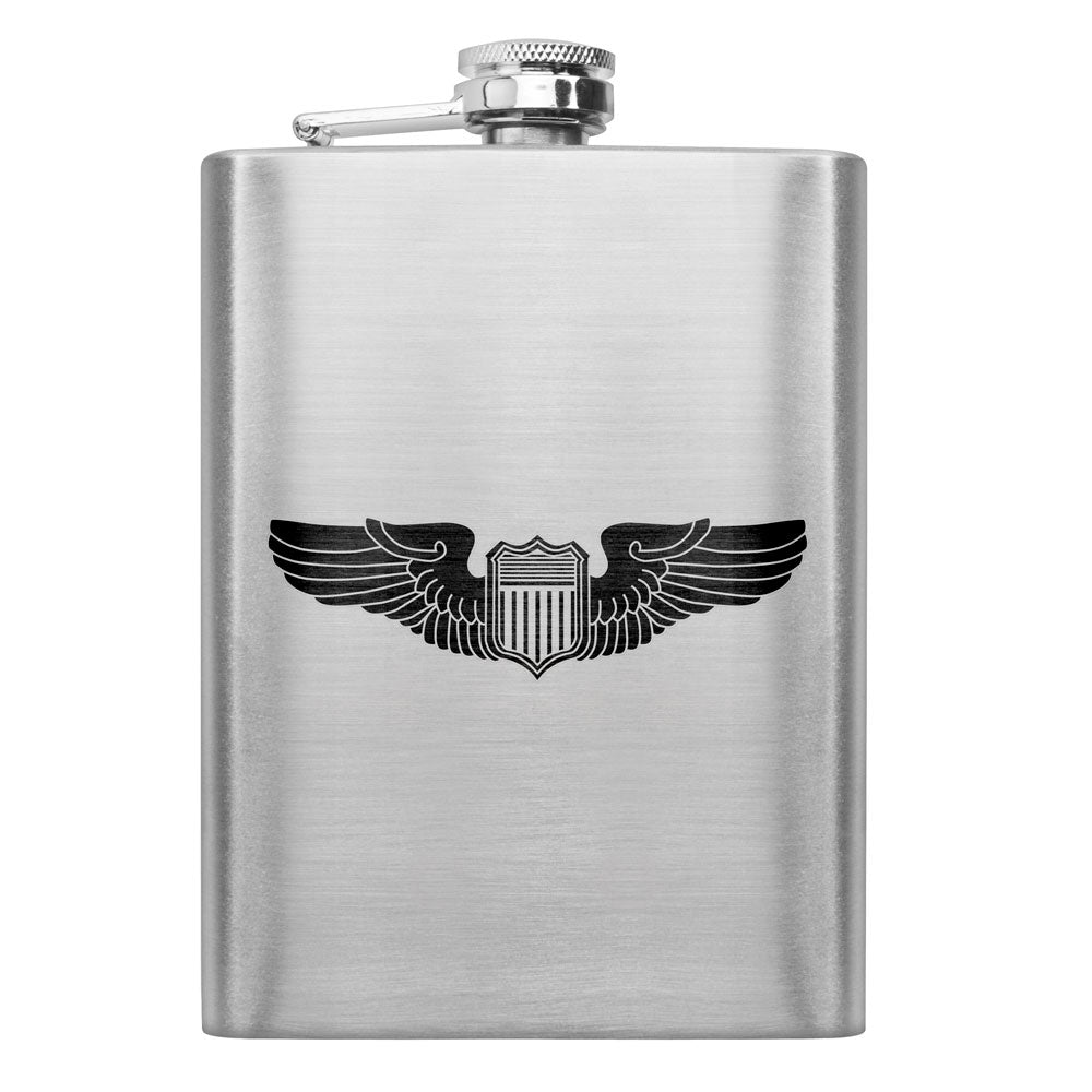 Air Force WWII Pilot Badge 8 oz. Flask