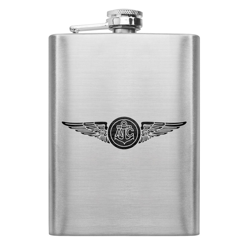 Navy Subdued Badge 8 oz. Flasks