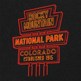 Rocky Mountain National Park Neon Sign T-Shirt