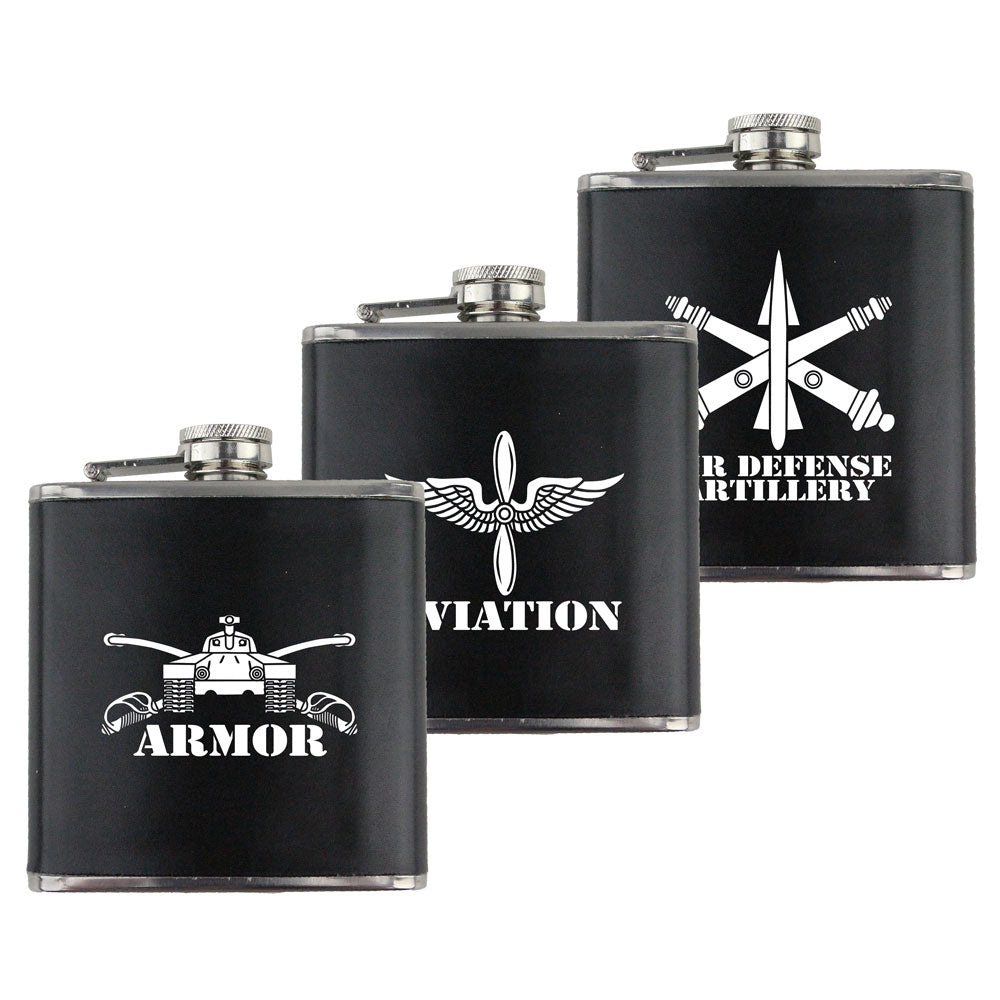 Army Branch 6 oz. Flasks with Wrap