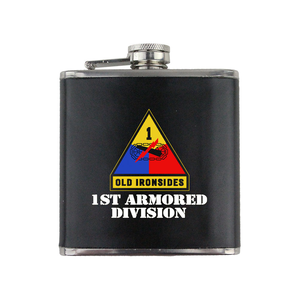 Full Color Army Unit 6 oz. Flask with Wrap