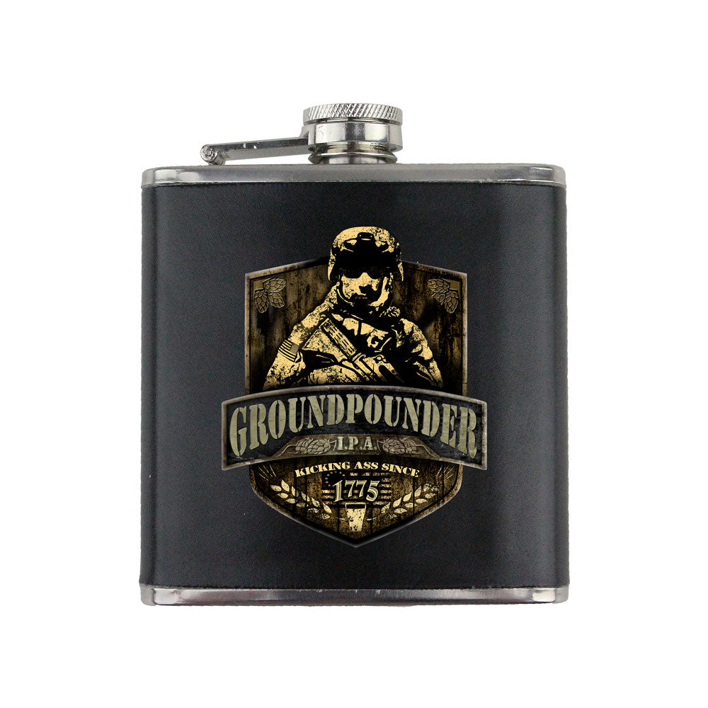 Army Groundpounder IPA 6 oz. Flask with Wrap