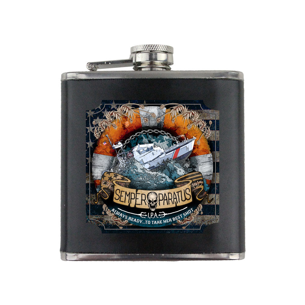Coast Guard Semper Paratus Imperial IPA 6 oz. Flask with Wrap