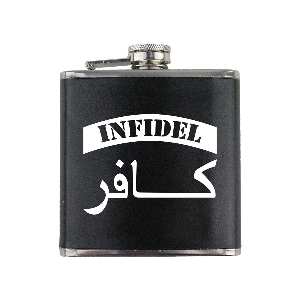 Infidel Arabic Script 6 oz. Flask with Wrap