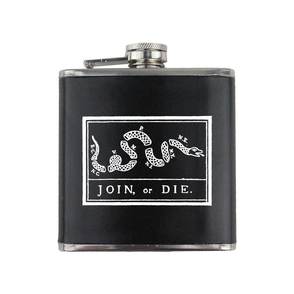 Join or Die 6 oz. Flask with Wrap