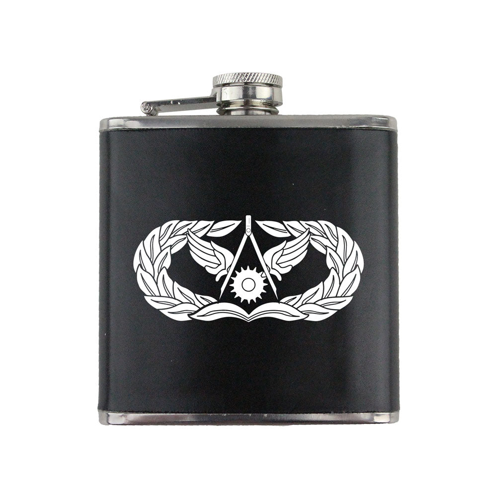 Air Force Civil Engineer Badge 6 oz. Flask with Wrap