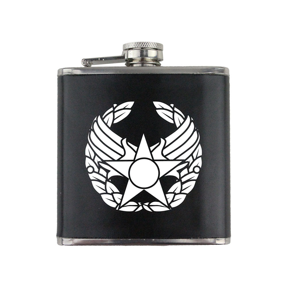 Air Force Commander's Insignia 6 oz. Flask with Wrap