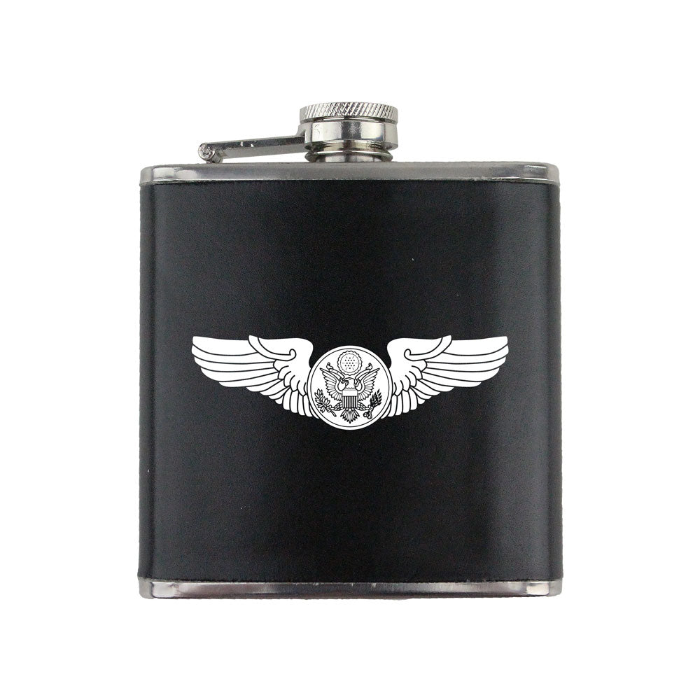 Army WWII Aircrew Badge 6 oz. Flask with Wrap