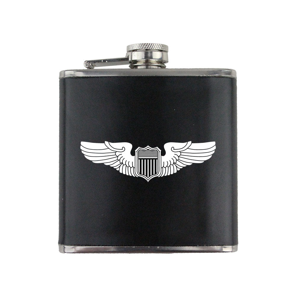 Air Force WWII Pilot Badge 6 oz. Flask with Wrap