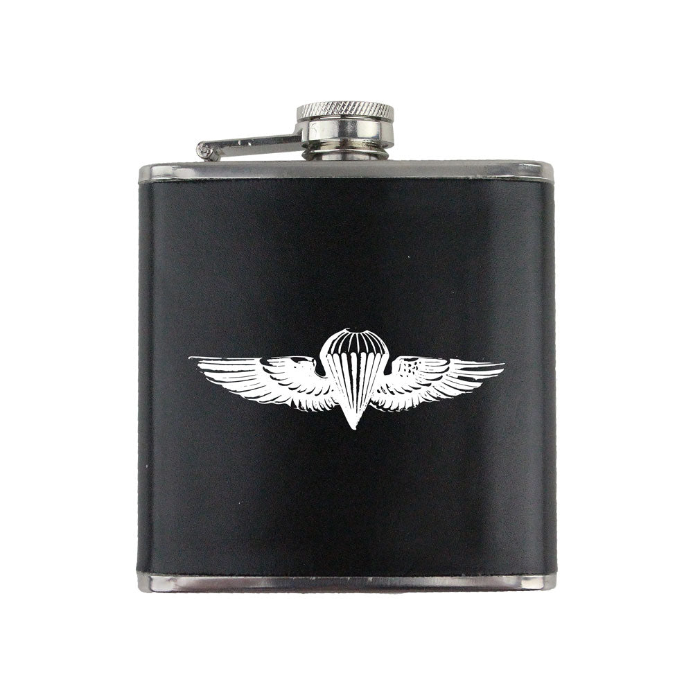 Navy and Marine Corps Parachute Badge 6 oz. Flask with Wrap