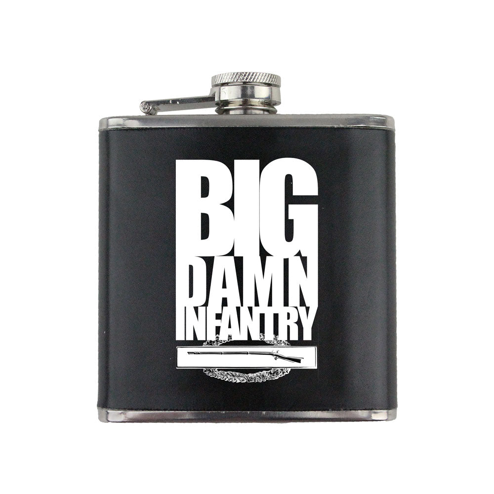 Big Damn Infantry 6 oz. Flask with Wrap