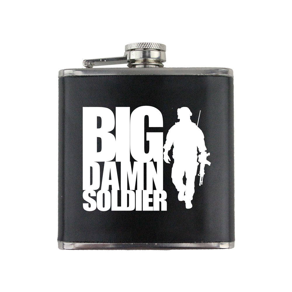 Big Damn Soldier 6 oz. Flask with Wrap