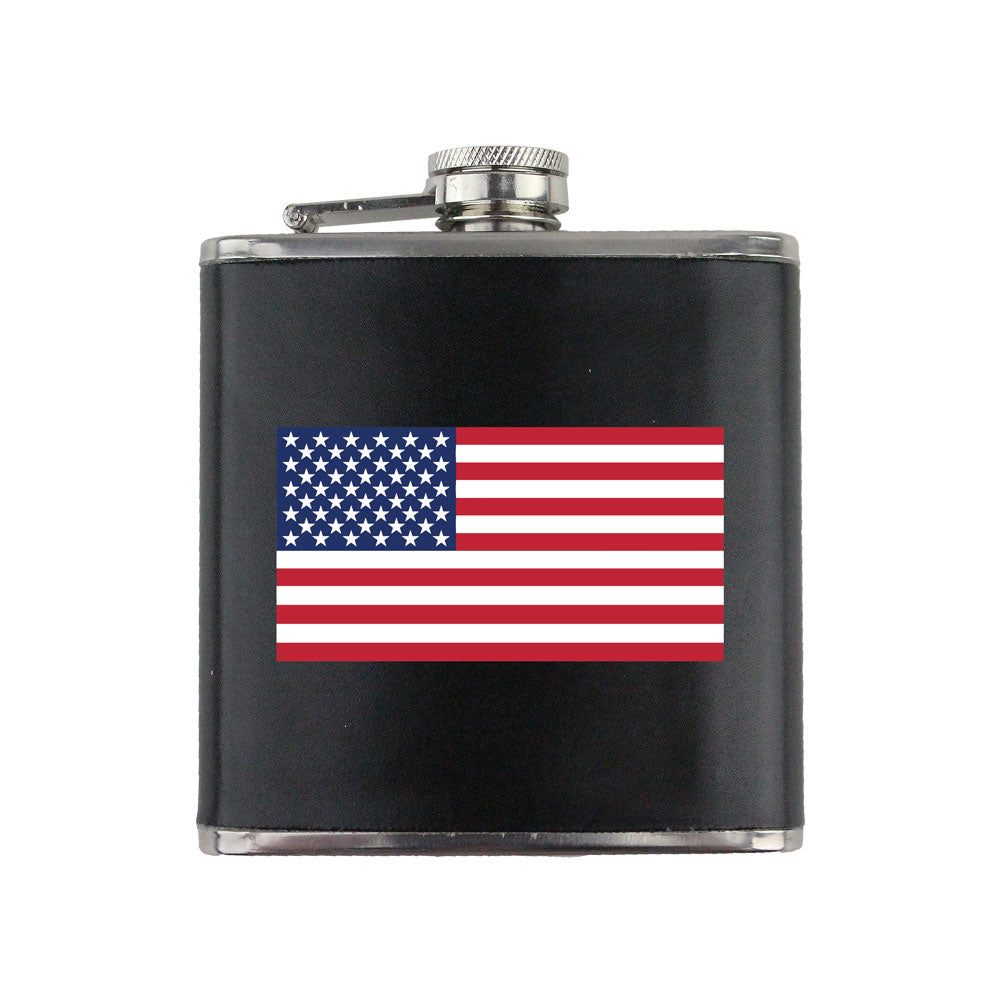 U.S. Flag 6 oz. Flask with Wrap