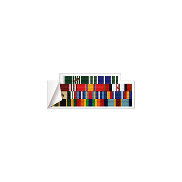 Small Ribbon Rack Sticker With Border