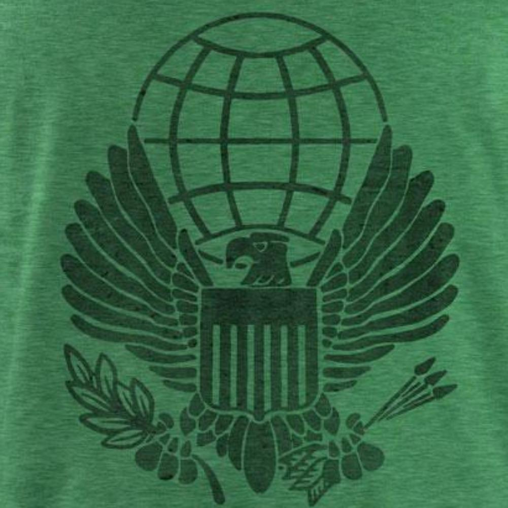 Vintage Style War on Terror: Service Medal (Black Ink) T-Shirt