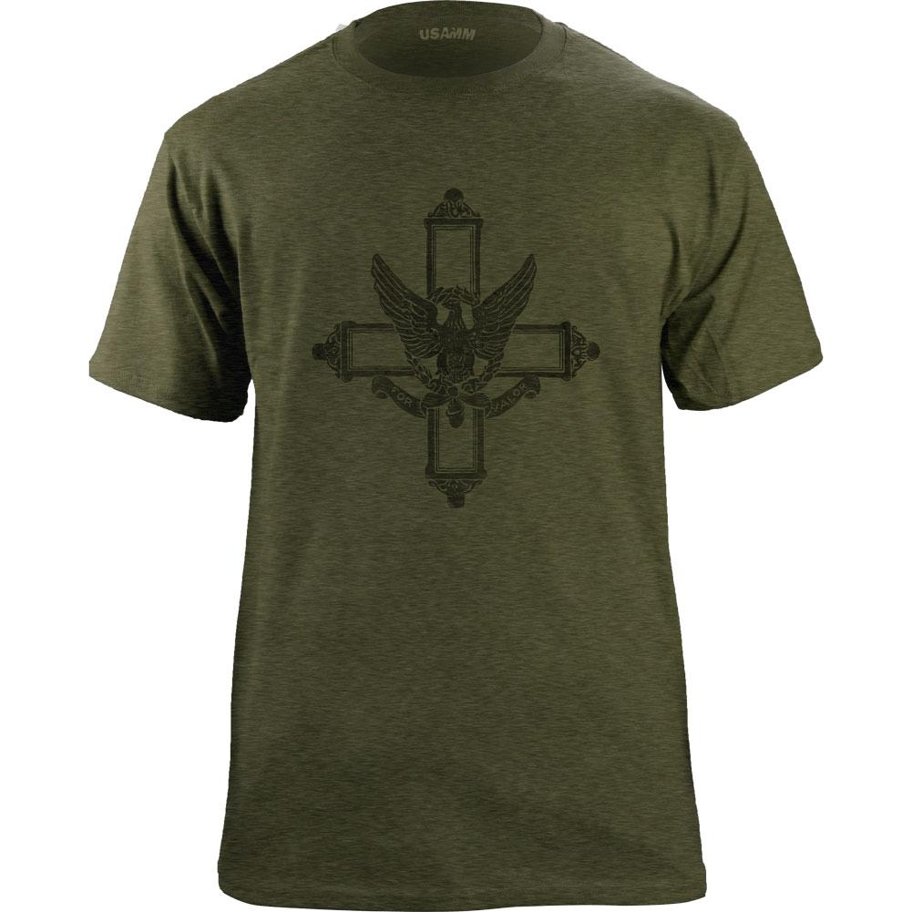 Vintage Style Army Service Cross Medal (Black Ink) T-Shirt