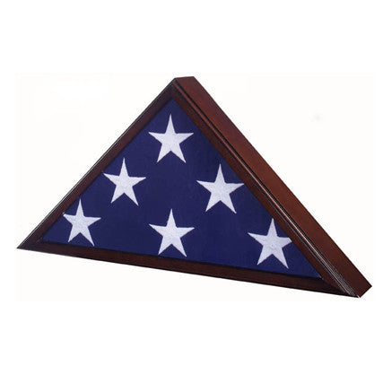 Memorial Flag Case - Cherry Finish