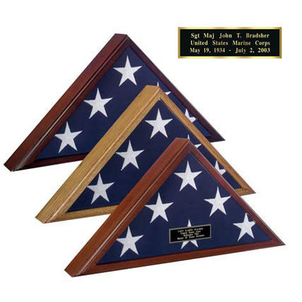 Veteran Flag Case - Cherry Finish