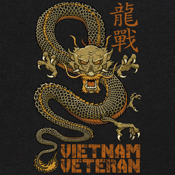 Vietnam Veteran Dragon Graphic T-shirt