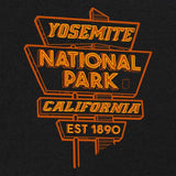 Yosemite National Park Neon Sign T-Shirt