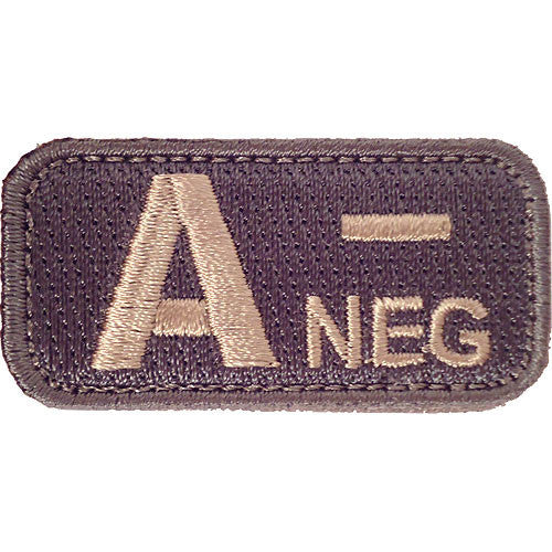 A Negative Blood Type ACU Patch