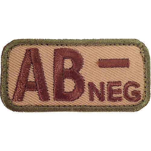 AB Negative Blood Type MultiCam (OCP) Patch
