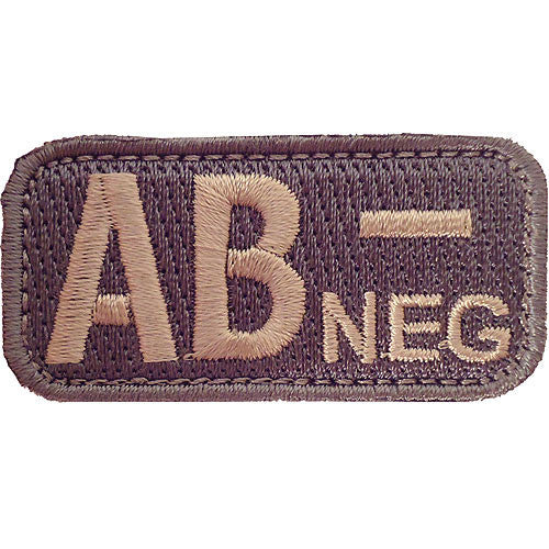 AB Negative Blood Type ACU Patch