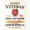 Afghanistan Veteran Whiskey Label T-Shirt - White - Small