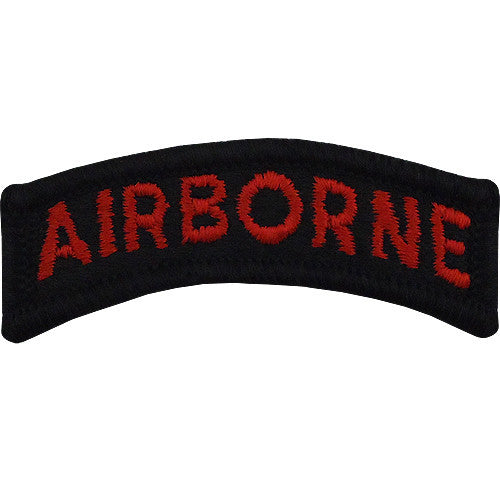 Airborne Class A Tab - Black / Red Lettering