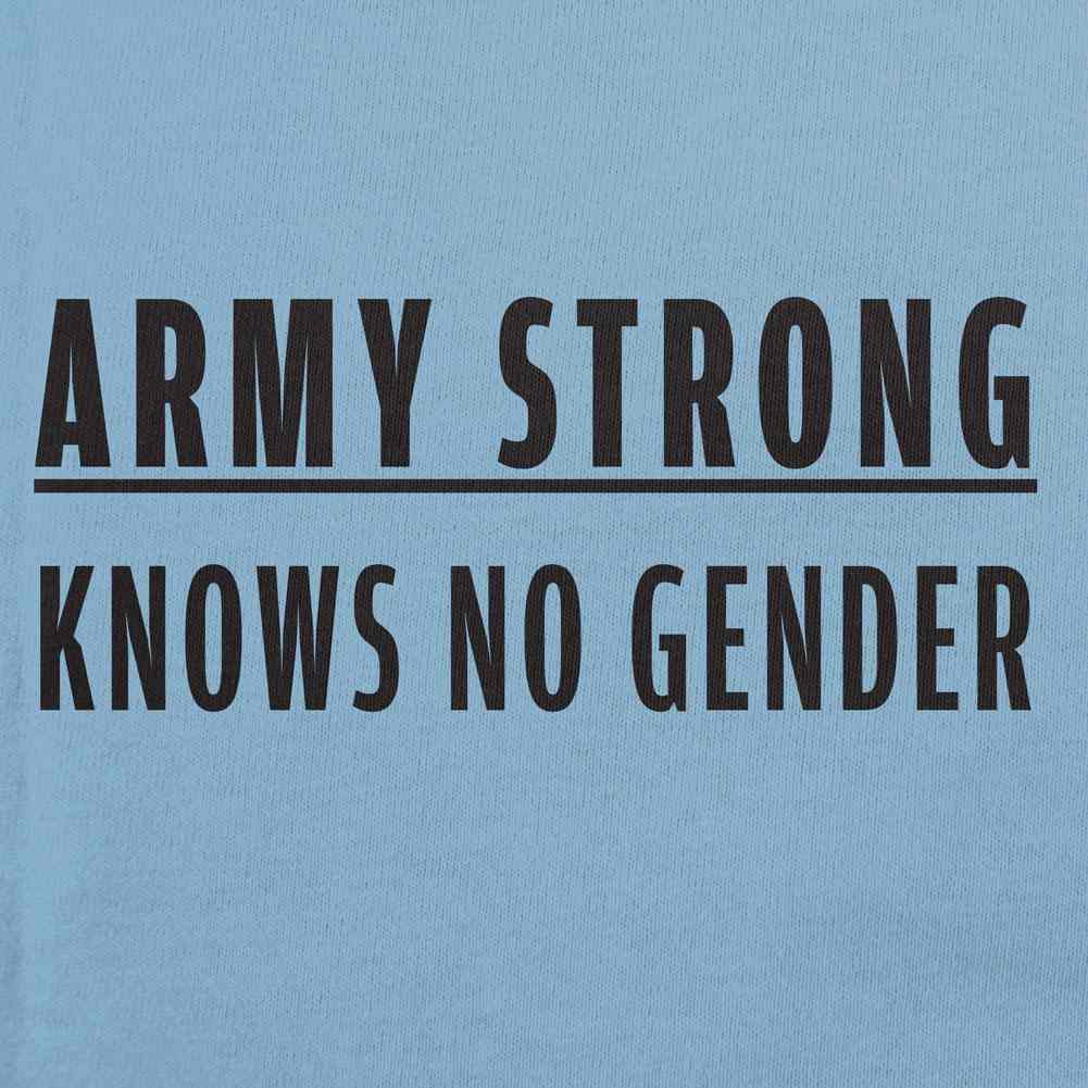 Army Strong Knows No Gender Text T-Shirt - Sm - Red