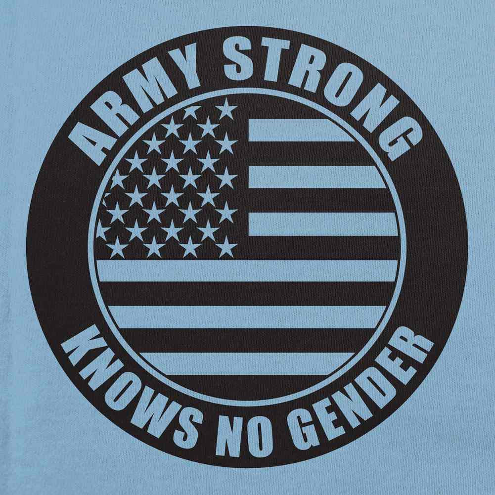 Army Strong Knows No Gender Stamp T-Shirt - Sm - Red