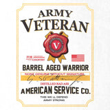 Army Veteran Whiskey Label T-Shirt