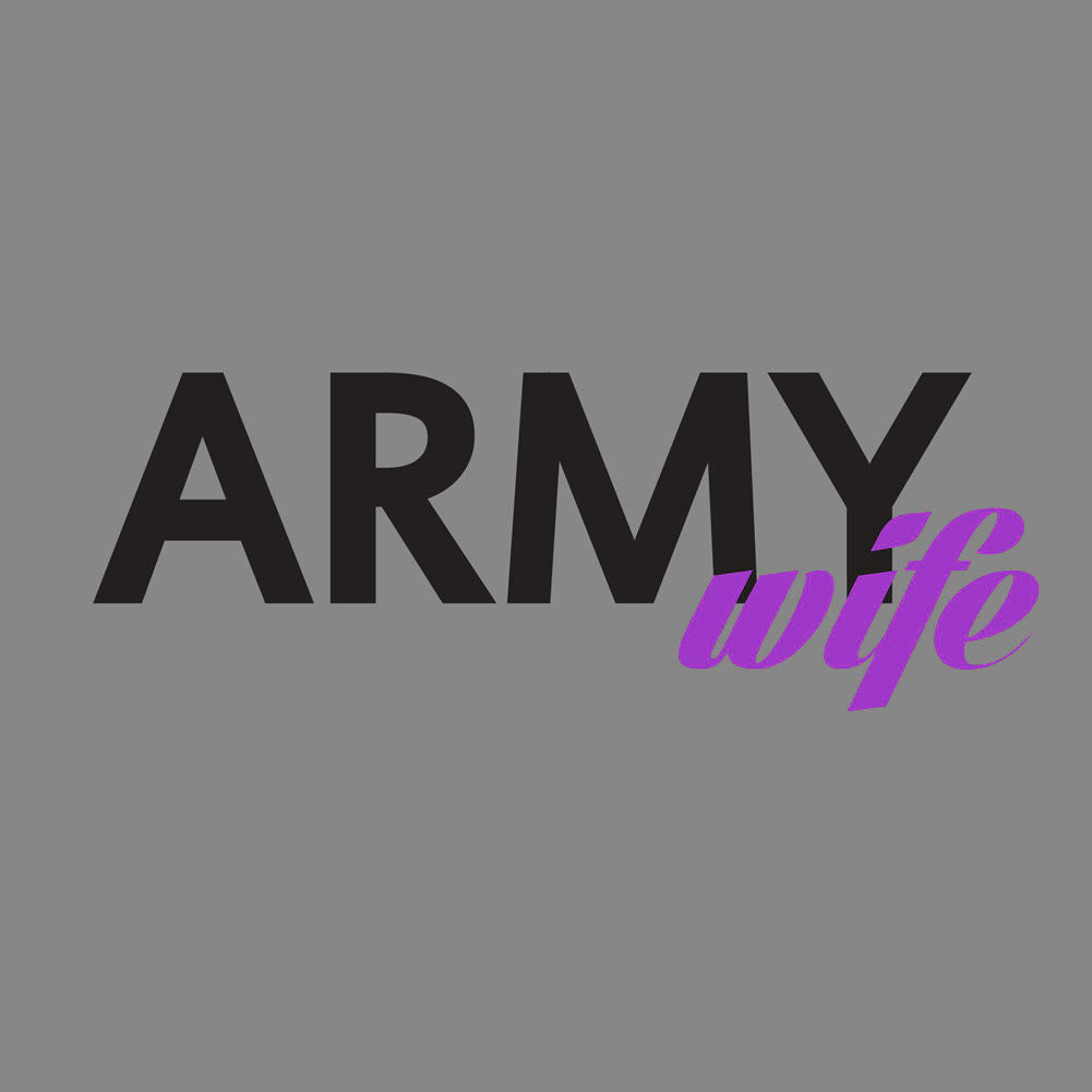 Army Wife T-Shirt - Heather Grey - Small