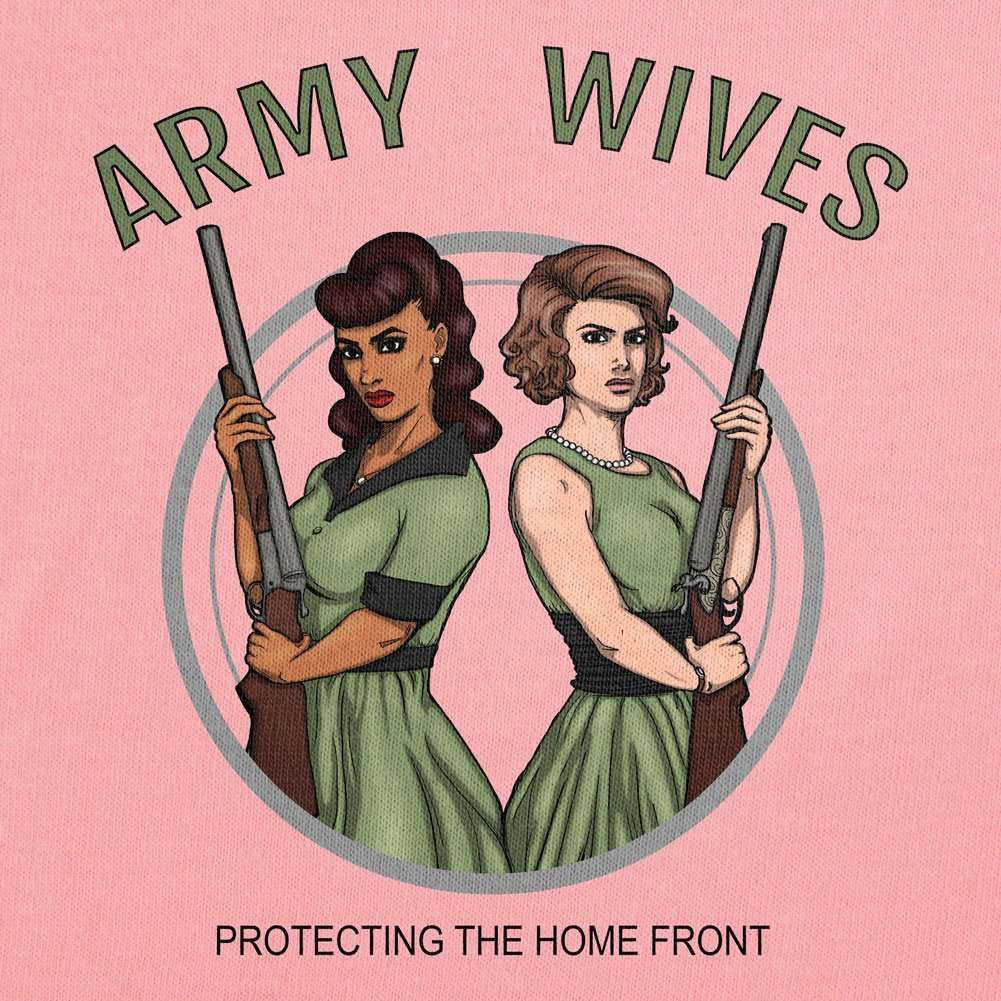 Army Wives Protecting the Homefront T-Shirt - Red - Medium