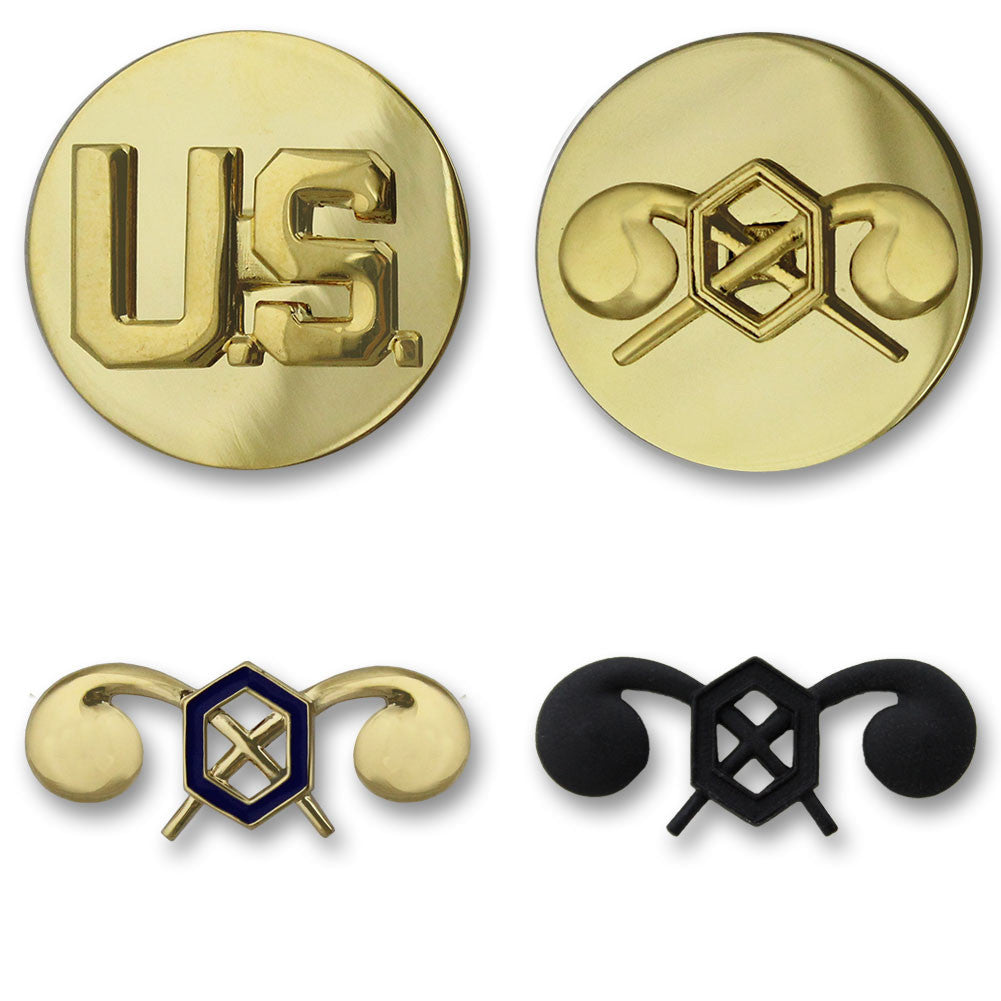 Army Chemical Branch Insignia - Officer and Enlisted