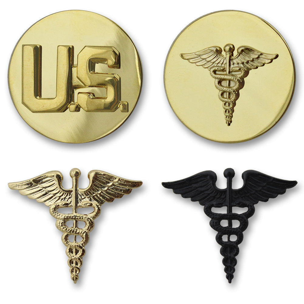 Army Medical Branch Insignia - Officer and Enlisted