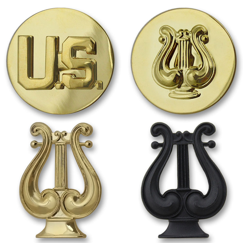 Army Musician Branch Insignia - Officer and Enlisted