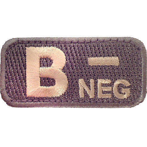B Negative Blood Type ACU Patch