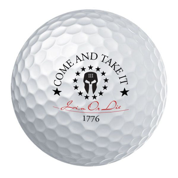 Molon Labe Come and Take it Seal Golf Ball Set