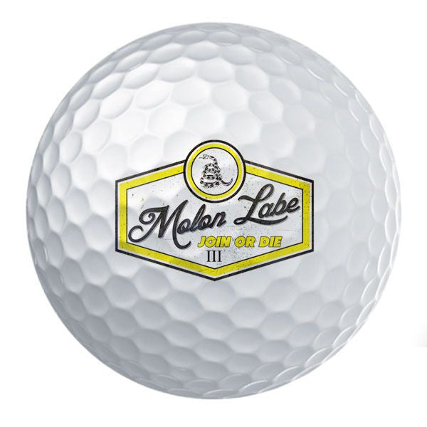 Retro Molon Labe Join or Die Golf Ball Set
