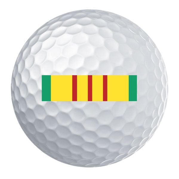 Vietnam Service Ribbon Golf Ball Set