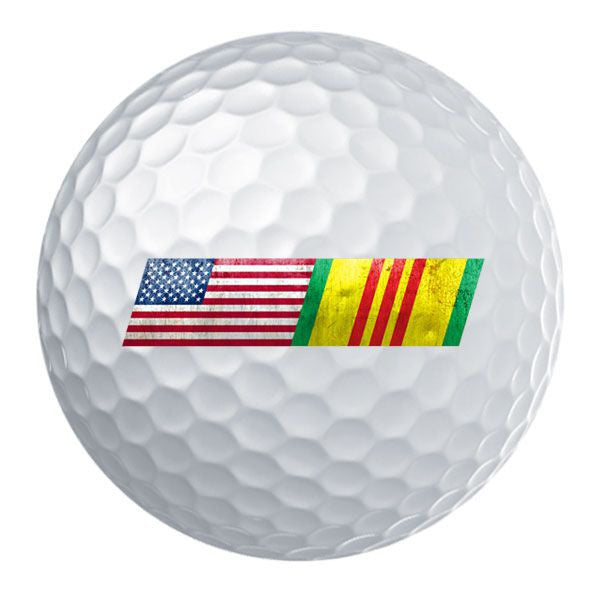American Flag Vietnam Service Ribbon Blend Golf Ball Set