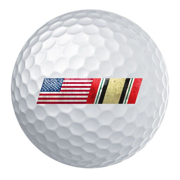 American Flag Iraq Campaign Ribbon Blend Golf Ball Set