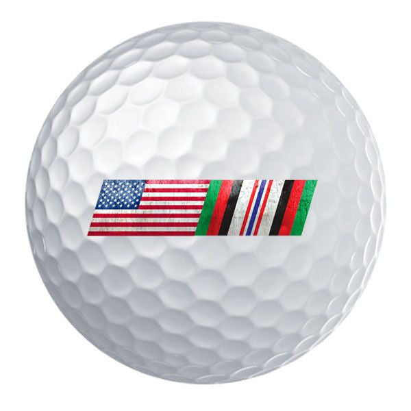 American Flag Afghanistan Campaign Ribbon Blend Golf Ball Set