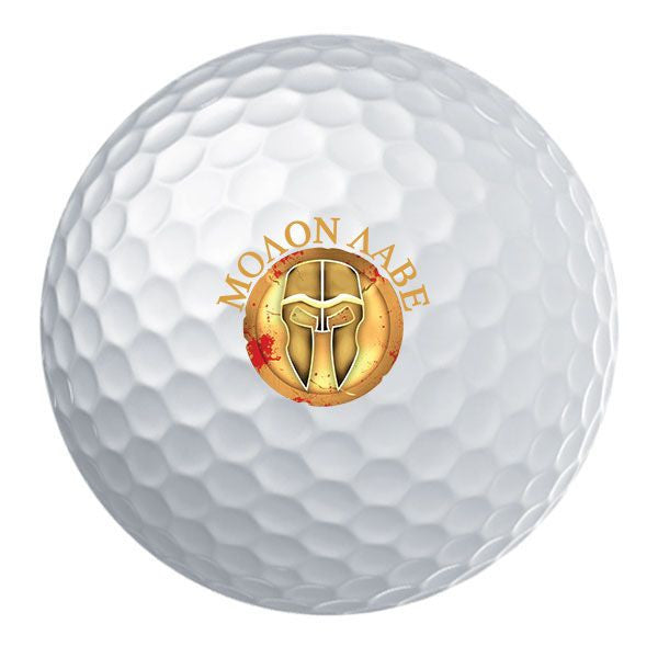 Molon Labe Gold Shield Golf Ball Set