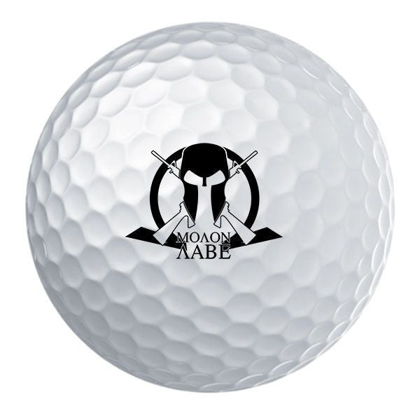 Molon Labe Cross Arms Golf Ball Set