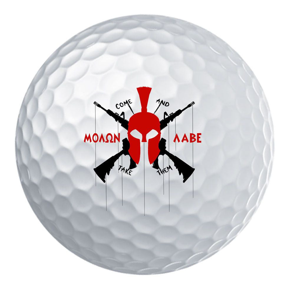 Molon Labe Modern Spartan Golf Ball Set